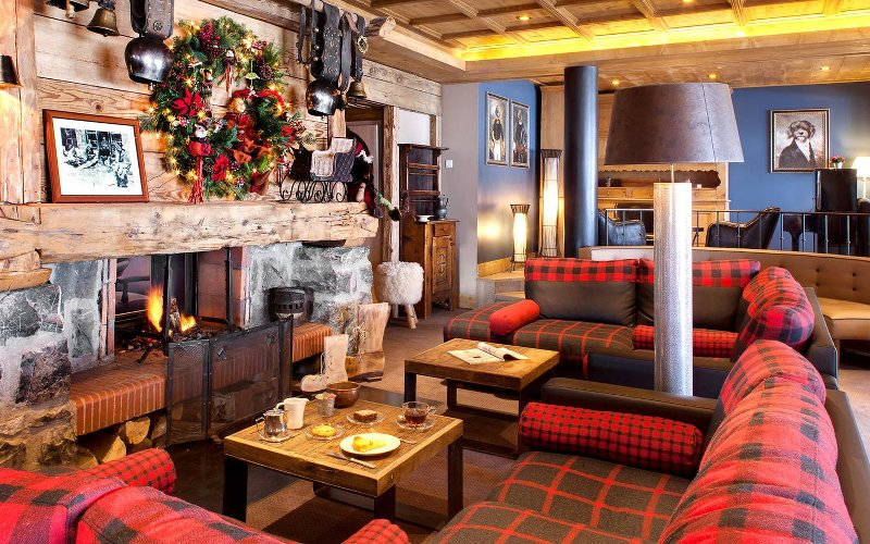 cheminée hotel Marmotte Gets