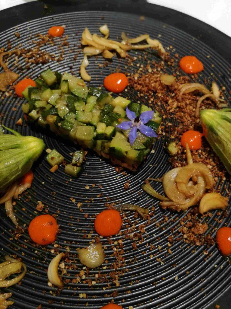 Fleurs de courgettes restaurant Jardins d'Alienor Oleron