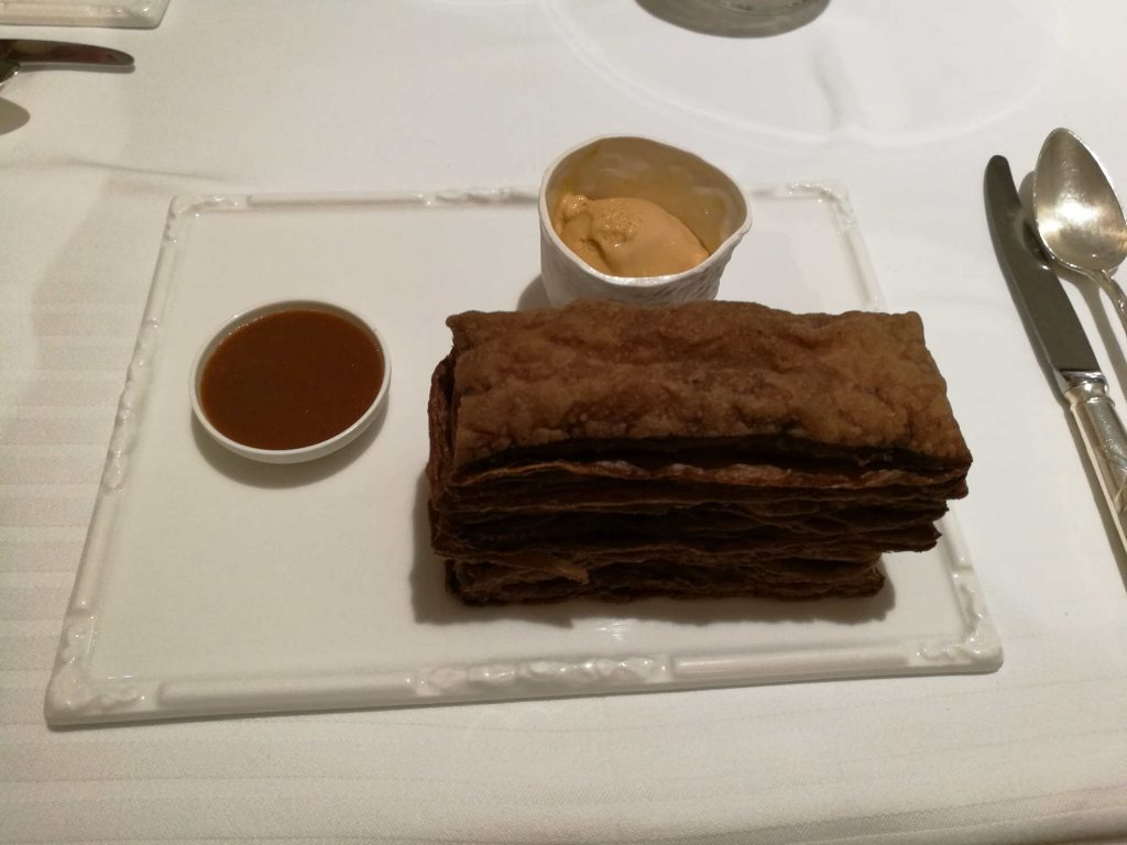 Millefeuille chocolat Jardins d'Alienor