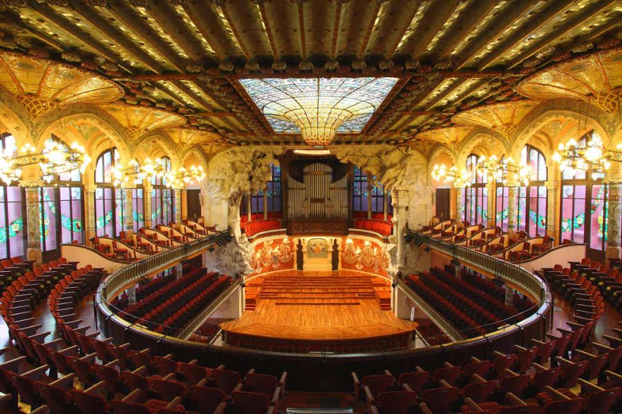 Palais de la musique catale Barcelone Les Boomeurs