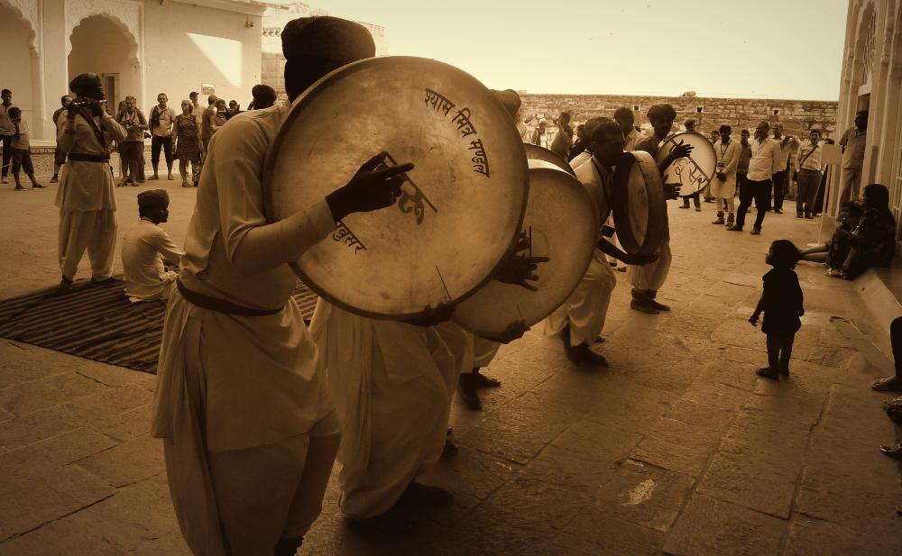 Musiciens Jaisalmer Rajhastan Inde Les Boomeurs