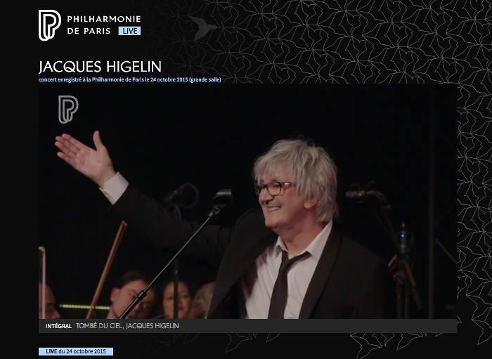 Jacques Higelin concert Philharmonie de Paris Les Boomeurs