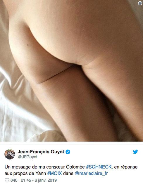 Tweet réponse de l'écrivain Colombe Schneck à Yann Moix Les Boomeurs