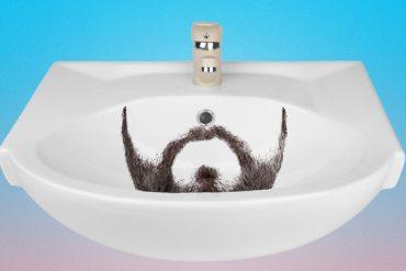 Photo représentant une barbe dans un lavabo Les Boomeurs