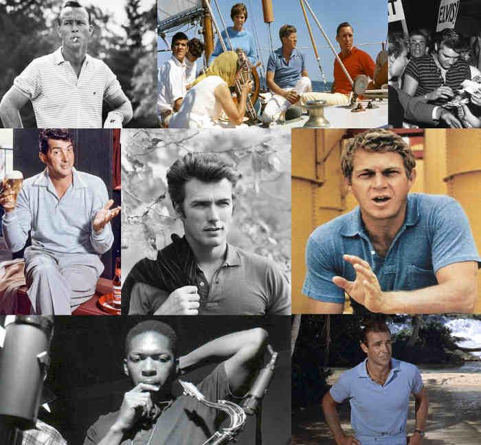 Photos de stars de cinéma américaines portant des polos Les Boomeurs