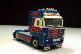 Photo représentant des camions miniatures Scania de la marque Tekno Les Boomeurs
