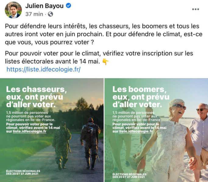 Tweet Julien Bayou EELV
