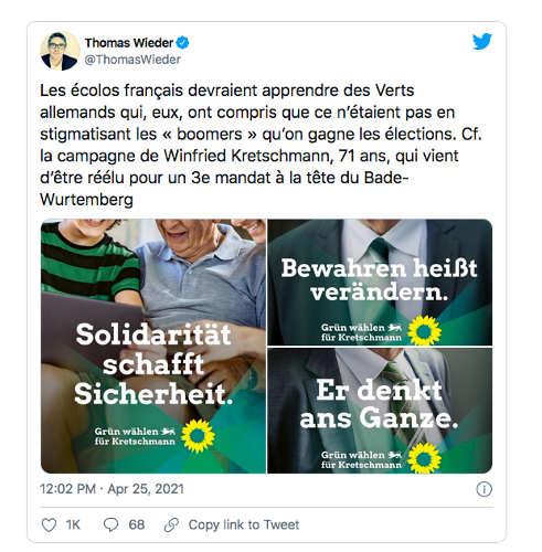 Tweet Thomas Wieder EELV